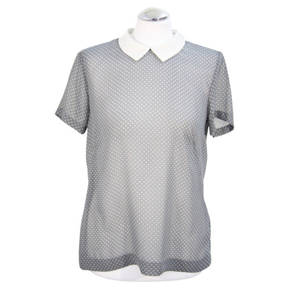 French Connection Transparent top in grey