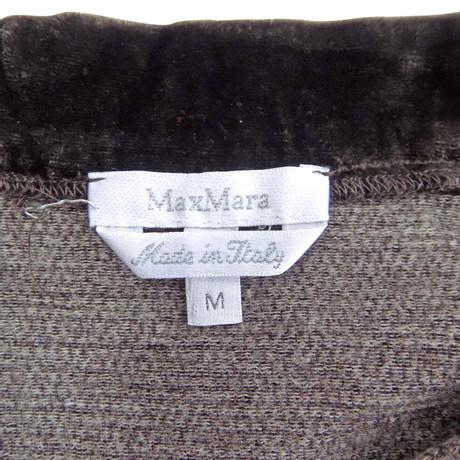 Max Mara Mara Mara Faltenrock Braun Max mit Faltenrock mit Braun Faltenrock Max Samtdetail Samtdetail mit Braun Samtdetail Max PwEqAOB