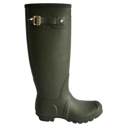 Hunter Rubber boots in matt olive