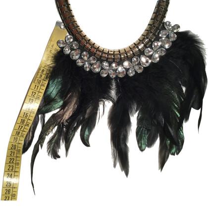 BCBG Max Azria Halskette mit Federn