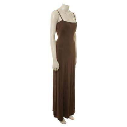 Max Mara Maxi jurk in bruin