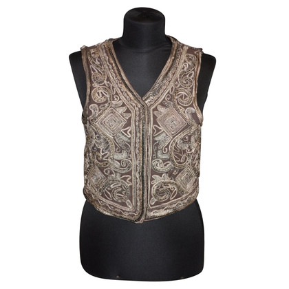 Antik Batik Vest with embroidery