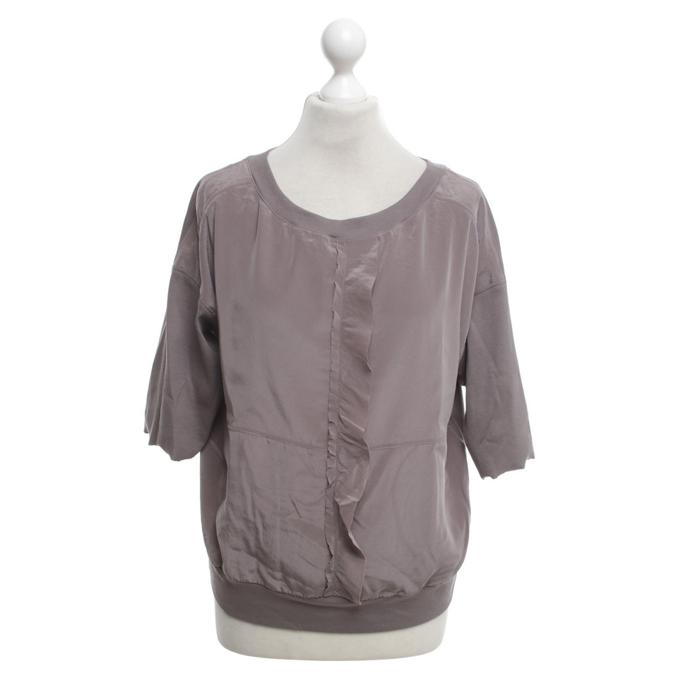 marc cain blouse shirt in taupe buy second hand marc. Black Bedroom Furniture Sets. Home Design Ideas