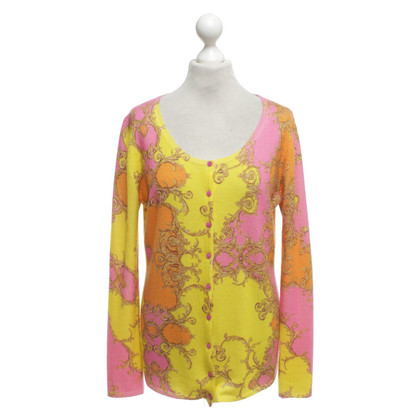 Princess goes Hollywood Cardigan in cashmere con stampa
