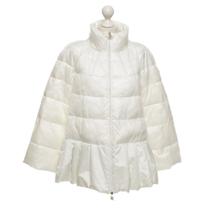 Elisabetta Franchi Winter jacket in cream white