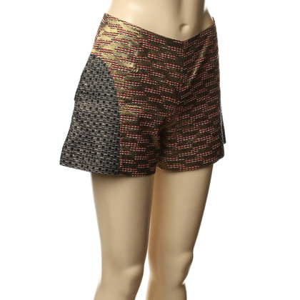 Matthew Williamson Shorts mit goldfarbenem Effektgarn
