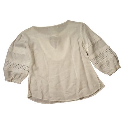Max & Co Camicia in lino ricamata