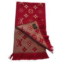 Louis Vuitton Logomania scarf in red