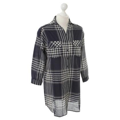 Sandro Plaid blouses dress