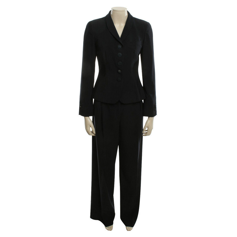 Giorgio Armani Pinstripe suit in dark blue