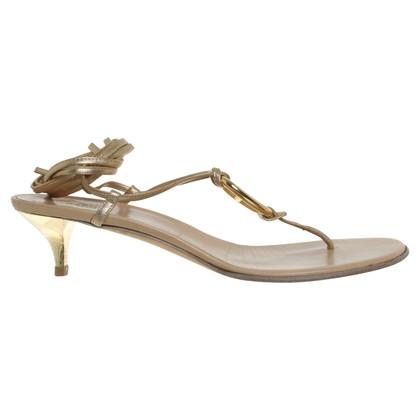 Hermès Sandali in colori oro