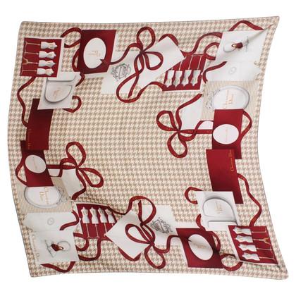 Christian Dior Zijden sjaal met motief