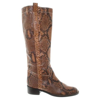 Valentino Python leather boots