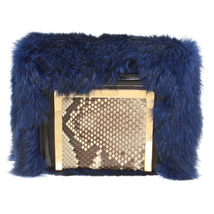 Jimmy Choo Shoulder bag with fur trim