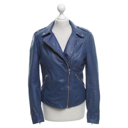 Muubaa Leather jacket in blue