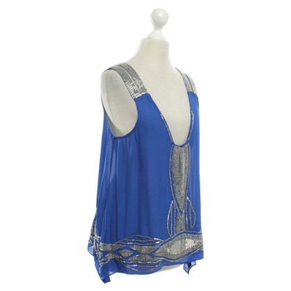 Parker Silk top with beaded trim