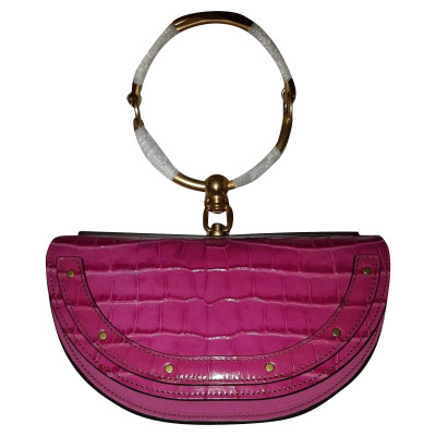 34329c50340cc Chloé Nile Bag aus Lackleder in Rosa   Pink