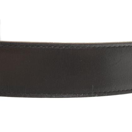 Hermès riem in zwart