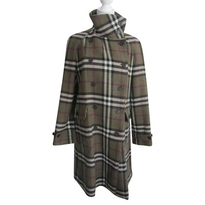 Burberry Wool coat with plaid pattern