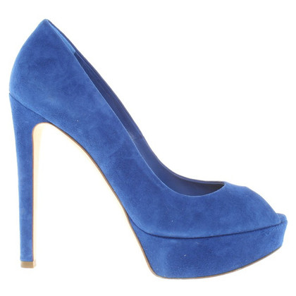 Christian Dior Peeptoes in Blau