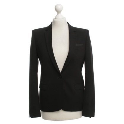 The Kooples Blazer with leather trim