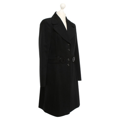 Laurèl Schwarzer Mantel aus Wollmix