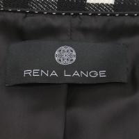 Rena Lange Checkered blazer in cream / black