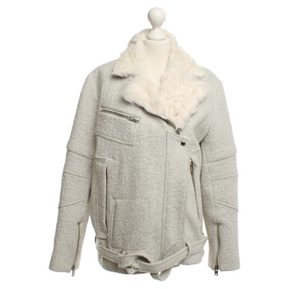 Iro Jacket with shearling details