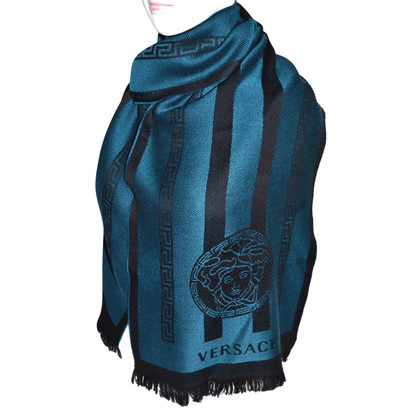 Versace Wool scarf with pattern