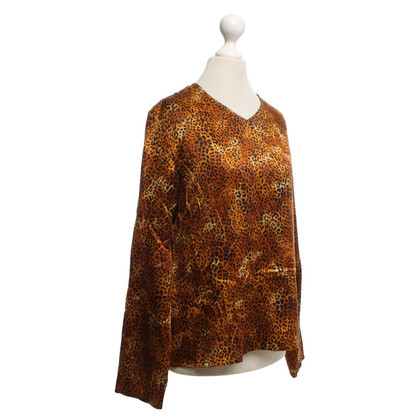 Yves Saint Laurent Silk top with pattern