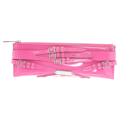 Burberry clutch patent leather