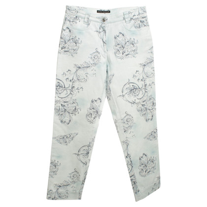 Luisa Cerano Cotton trousers in blue