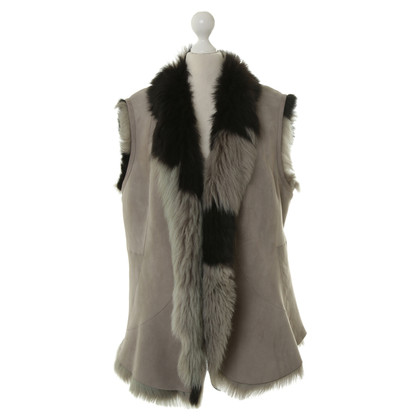 Marc Cain Lamb fur vest in grey