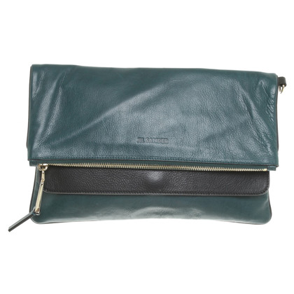Jil Sander clutch in groen