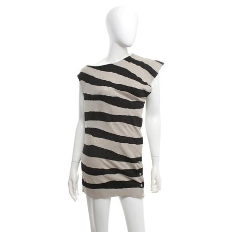 Balenciaga Asymmetrisches Strick-Shirt Schwarz