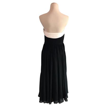 Marchesa Strapless zijden jurk