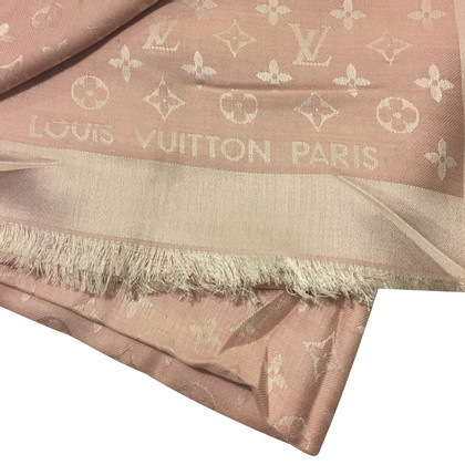 Louis Vuitton Monogram-Denim-Tuch in Rosa