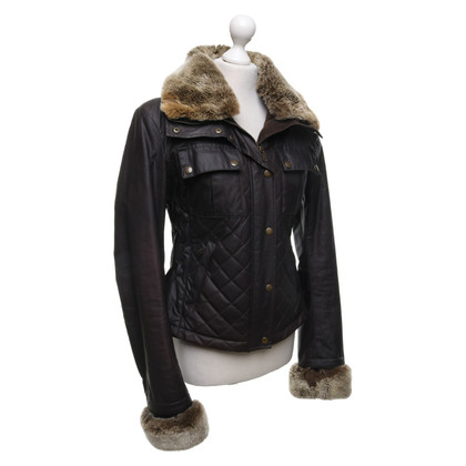 Belstaff Impregnated jacket with fur trim