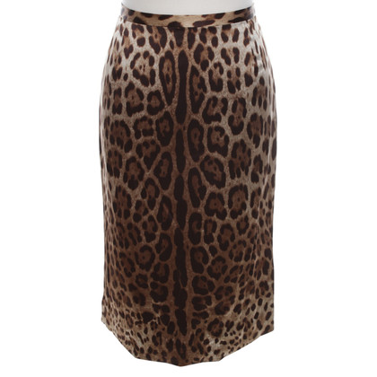 Dolce & Gabbana skirt in leopard look