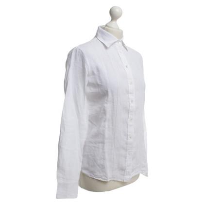 Van Laack Linen blouse in white