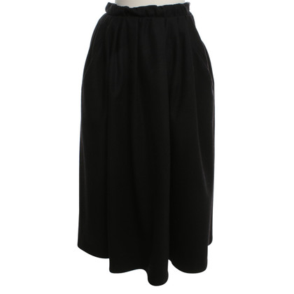 Acne Midi Skirt in Black