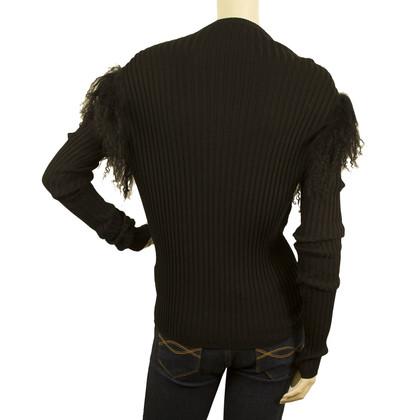 Roberto Cavalli CLASS Mongolia Black Knit jacket