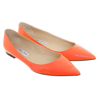 Jimmy Choo Ballerina's neon oranje
