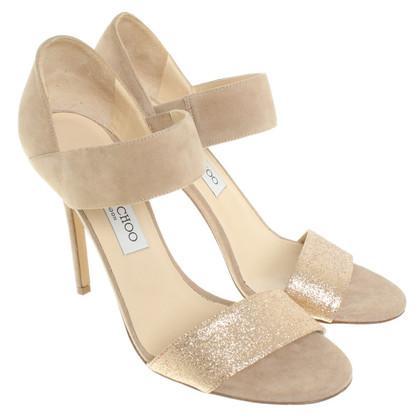 Jimmy Choo Sandals with glitter trim