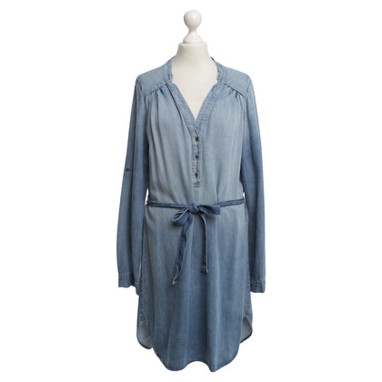 Velvet Stonewashed Dress in Blue