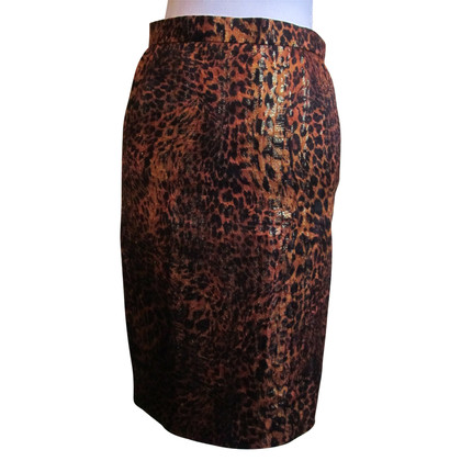 Escada skirt with leopard pattern