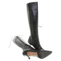 Manolo Blahnik Stiefel aus Leder
