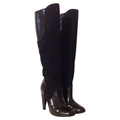 Pollini Boots with material mix