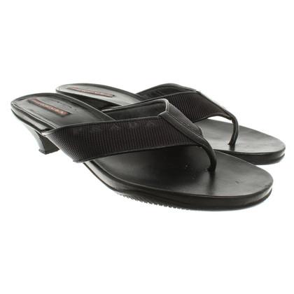 Prada Sandaletten mit Zehentrenner