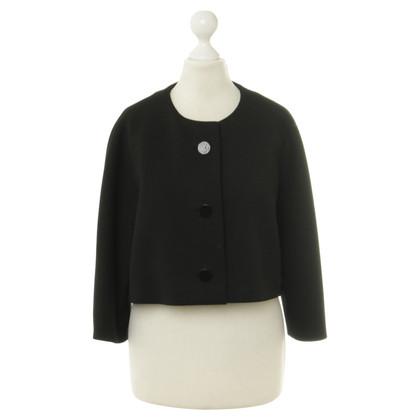 Balenciaga Korte jas in zwart